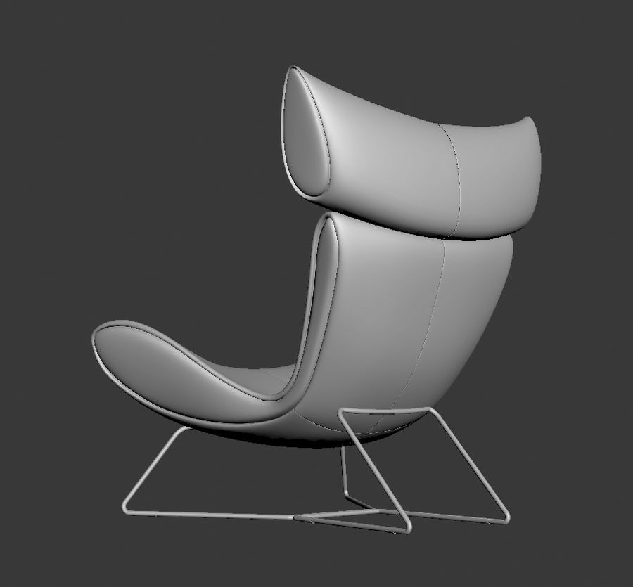 Poltrona BoConcept Imola royalty-free 3d model - Preview no. 4