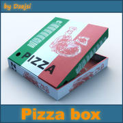 Pizza box 3d model