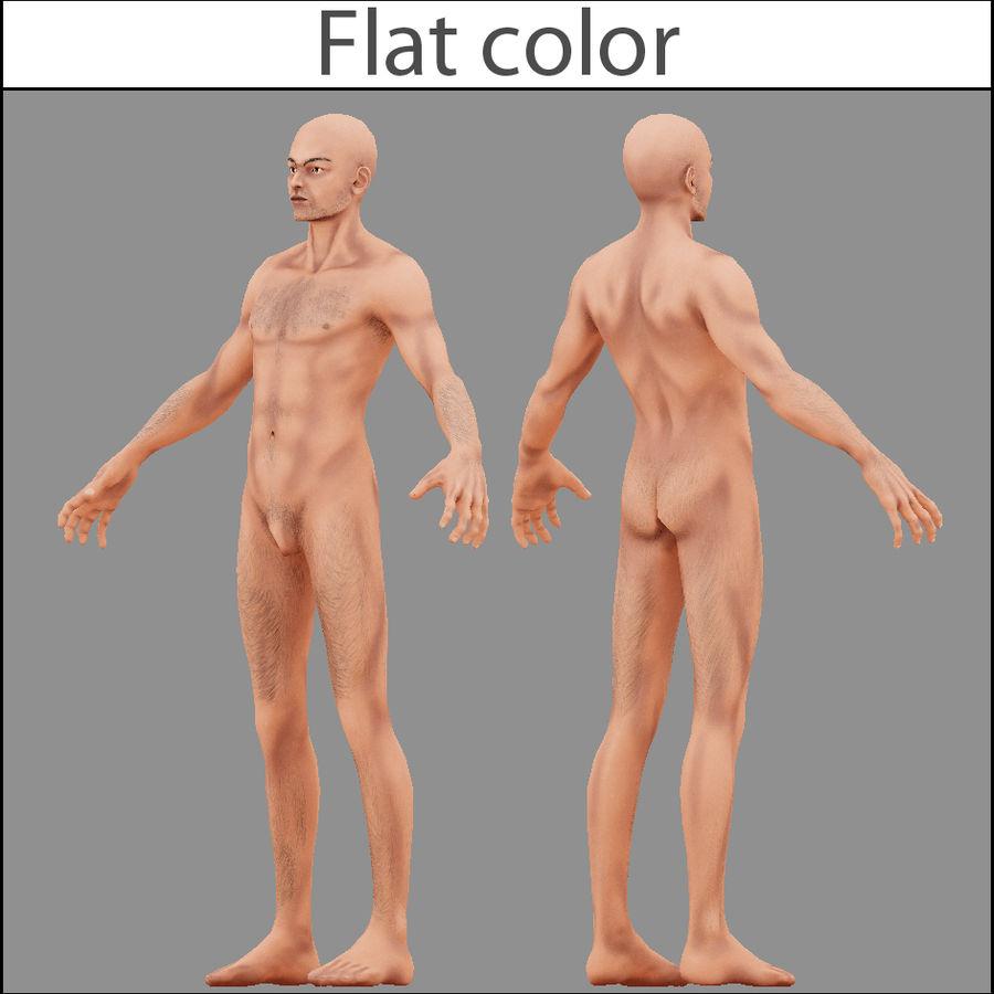 Человек Мужчина Бас Голый royalty-free 3d model - Preview no. 2