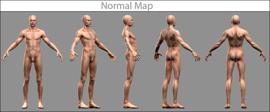 Человек Мужчина Бас Голый royalty-free 3d model - Preview no. 7