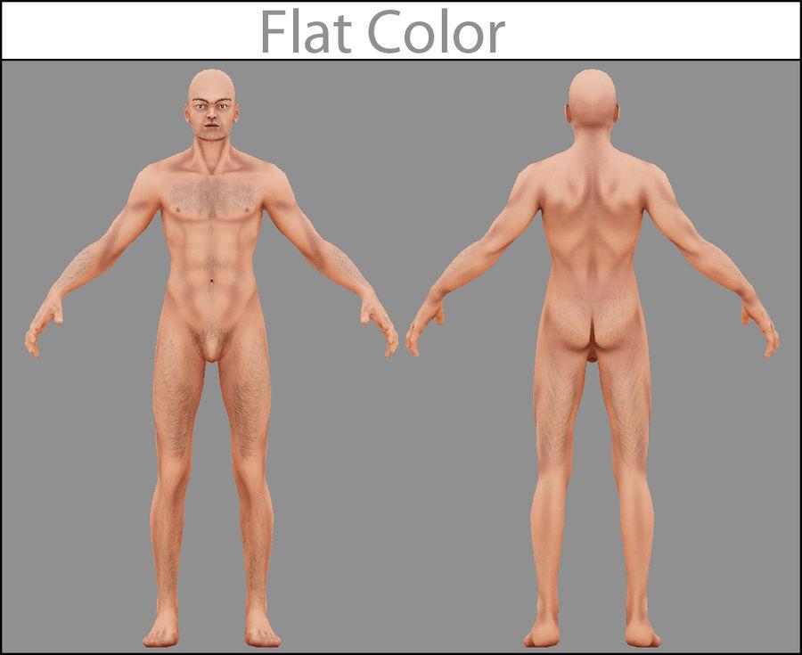 Человек Мужчина Бас Голый royalty-free 3d model - Preview no. 3