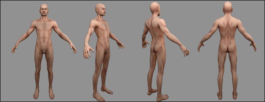 Человек Мужчина Бас Голый royalty-free 3d model - Preview no. 10