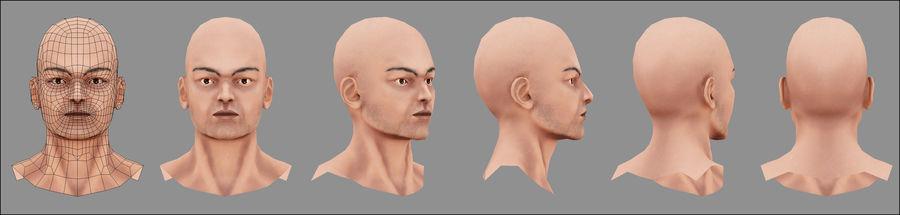 Человек Мужчина Бас Голый royalty-free 3d model - Preview no. 5