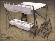 Vapen Stall, Låg Poly, Strukturerad 3d model