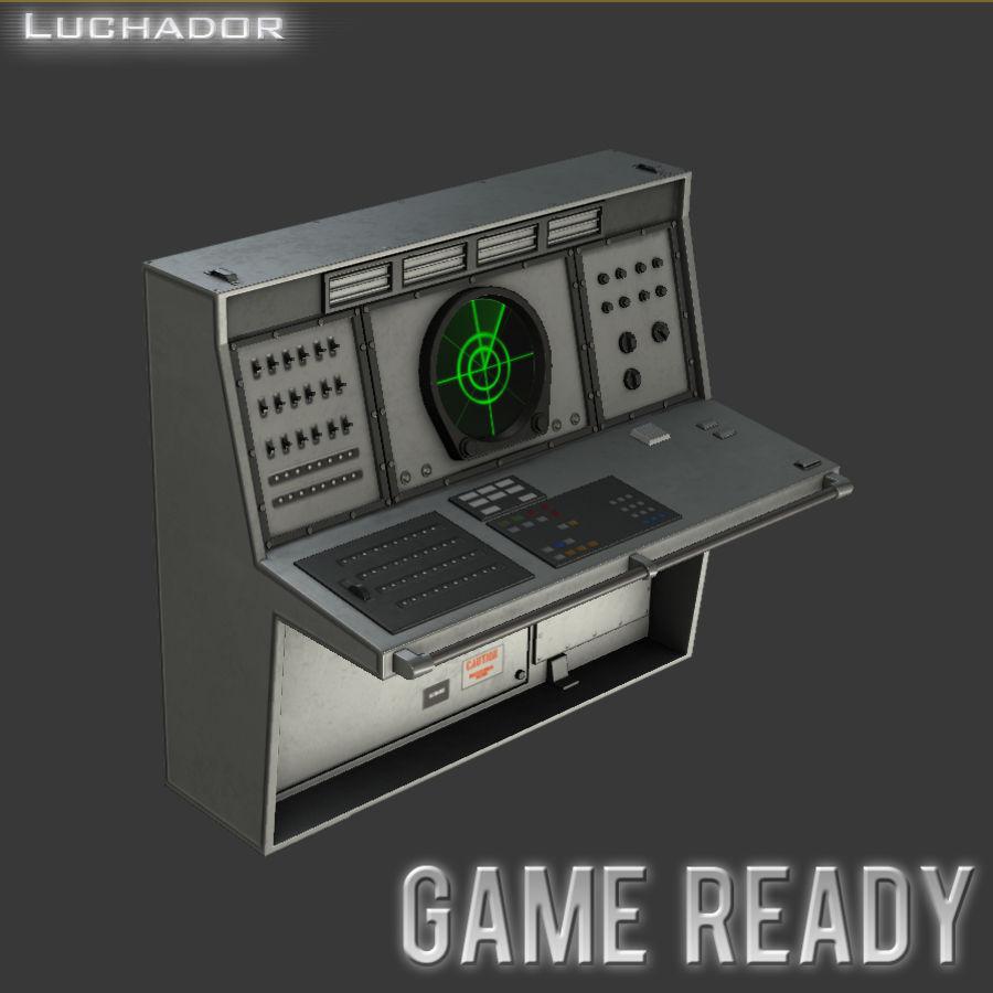 レーダーコンソールゲームレディ royalty-free 3d model - Preview no. 1
