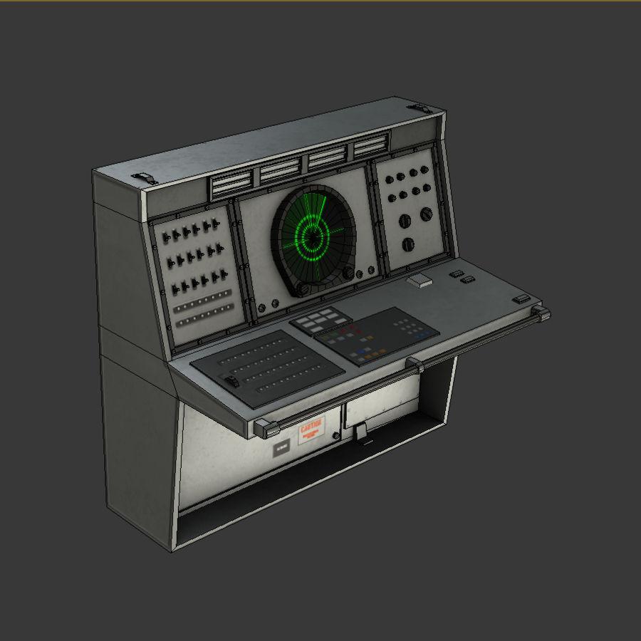 レーダーコンソールゲームレディ royalty-free 3d model - Preview no. 2
