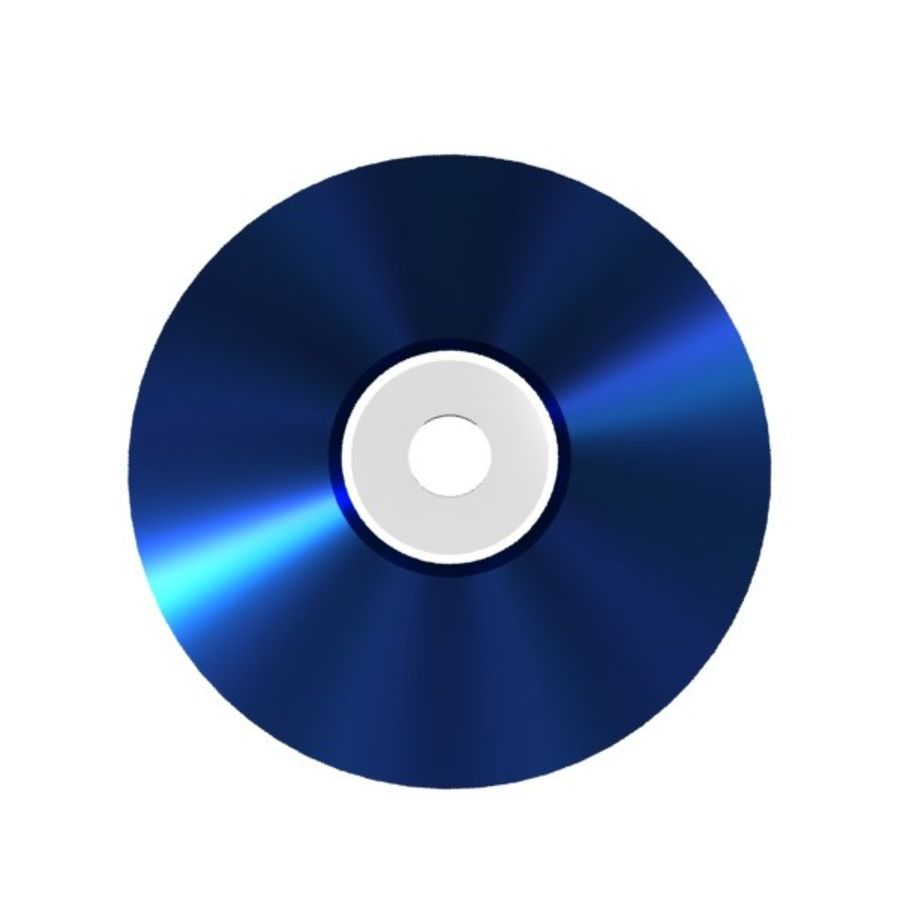 Blu-ray disc royalty-free 3d model - Preview no. 3