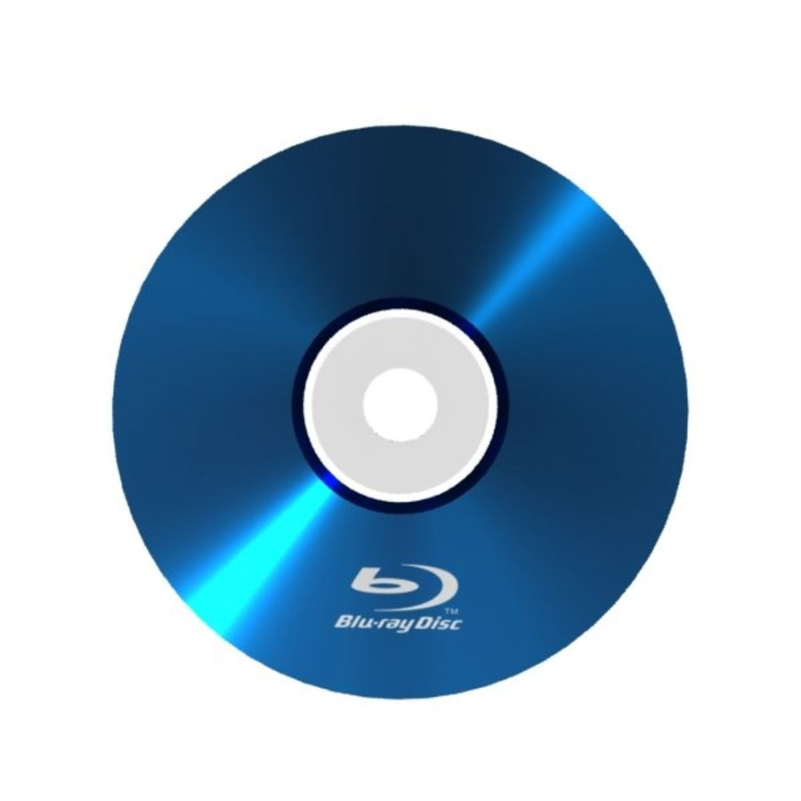 Blu-ray disc royalty-free 3d model - Preview no. 1