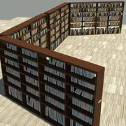 Standard Book Shelf 3d model