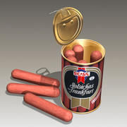 canned sausages 3d model