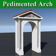 Pedimented Arch 3d model