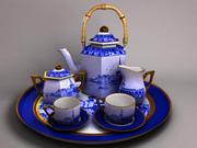 kaffe och te uppsättning 3d model
