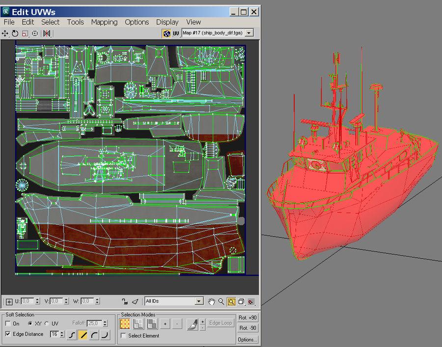 船 royalty-free 3d model - Preview no. 3