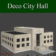 Deco City Hall 3d model