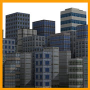 Raccolta di edifici 3d model