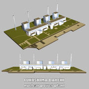 FUKUSHIMA nuclear power plant 3d model
