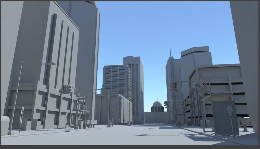 City Street royalty-free 3d model - Preview no. 2