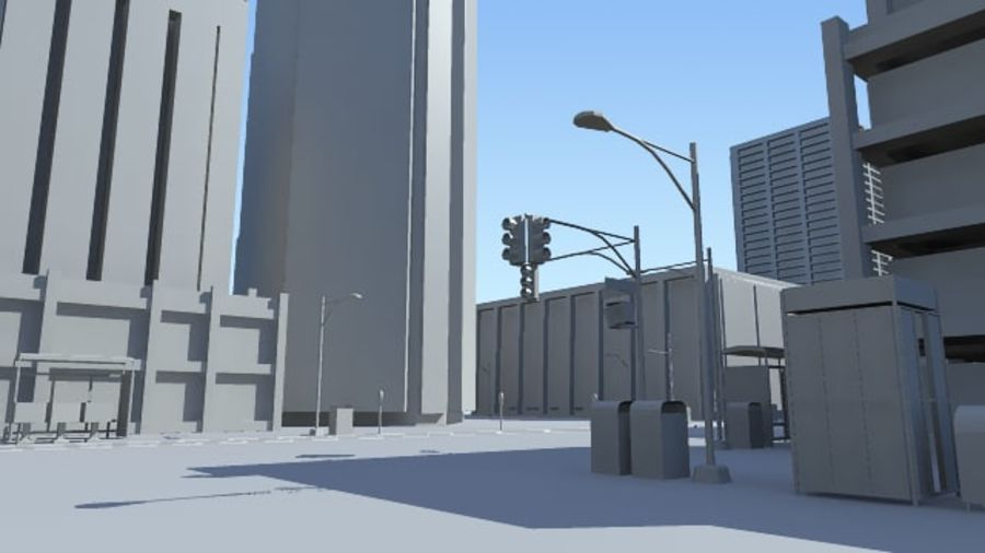 City Street royalty-free 3d model - Preview no. 5
