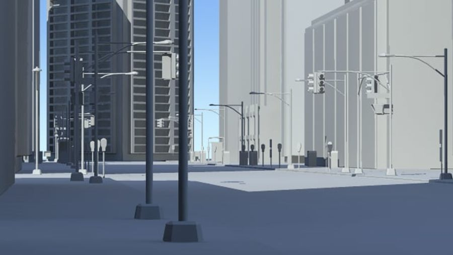 City Street royalty-free 3d model - Preview no. 6