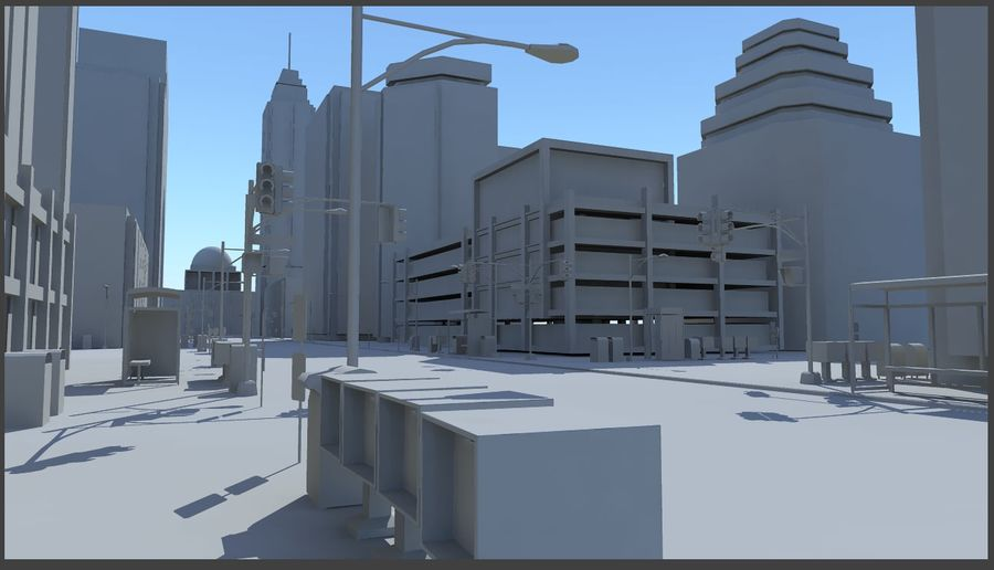City Street royalty-free 3d model - Preview no. 1