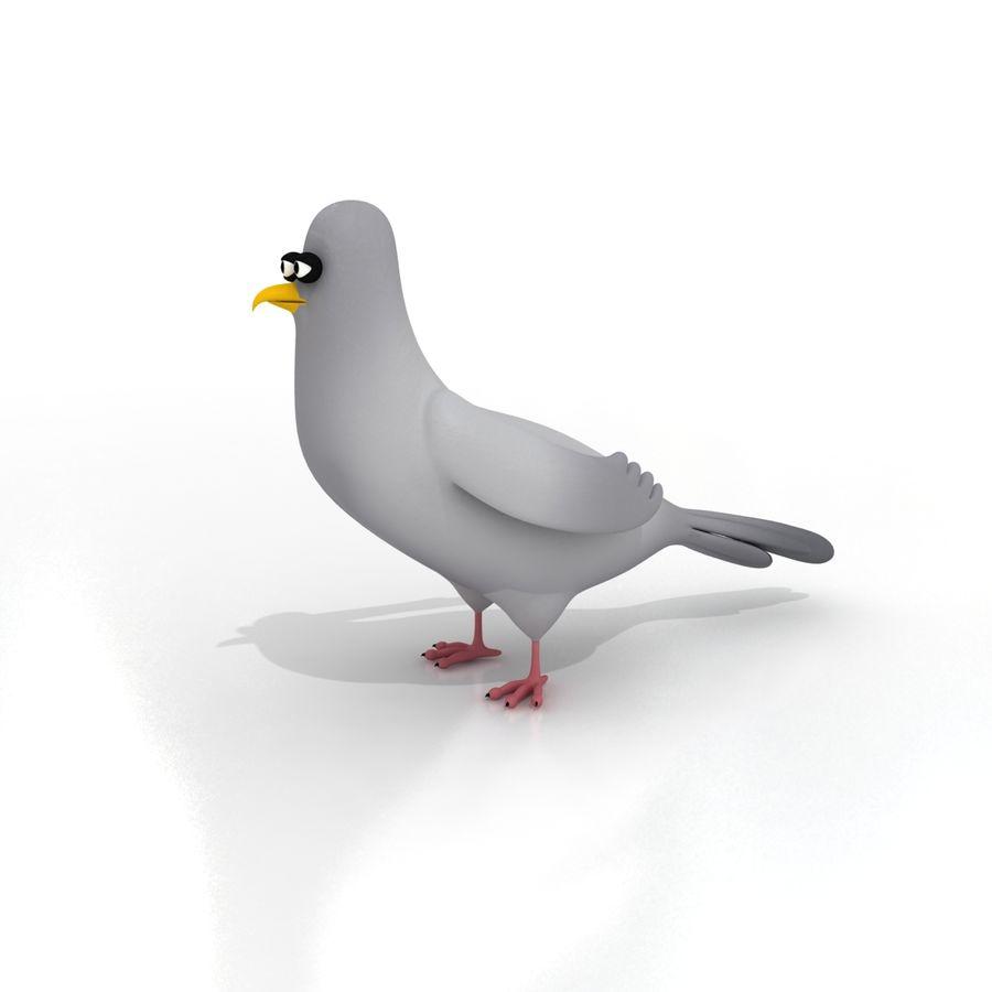Pigeon De Dessin Animé Rigged Modèle 3d 45 Obj Max Fbx Dxf