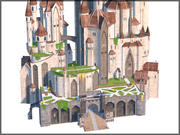 Fantasy Castle, Low Poly, Textured 3d model