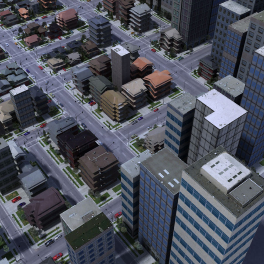 City royalty-free 3d model - Preview no. 2