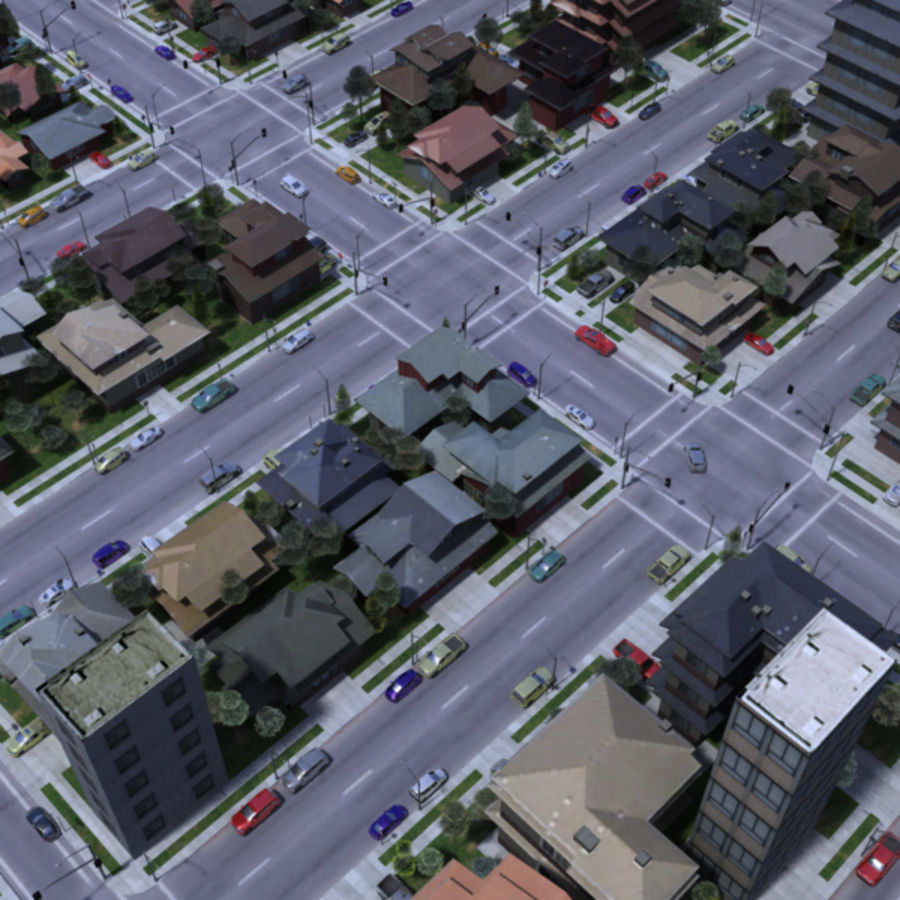 City royalty-free 3d model - Preview no. 10