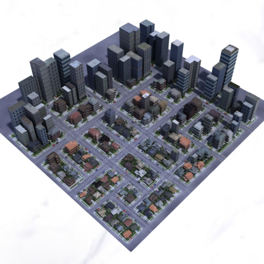 City royalty-free 3d model - Preview no. 11