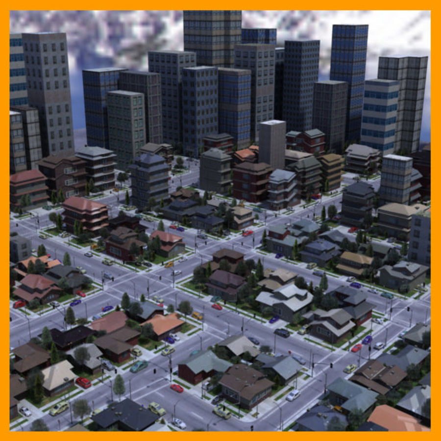 City royalty-free 3d model - Preview no. 1