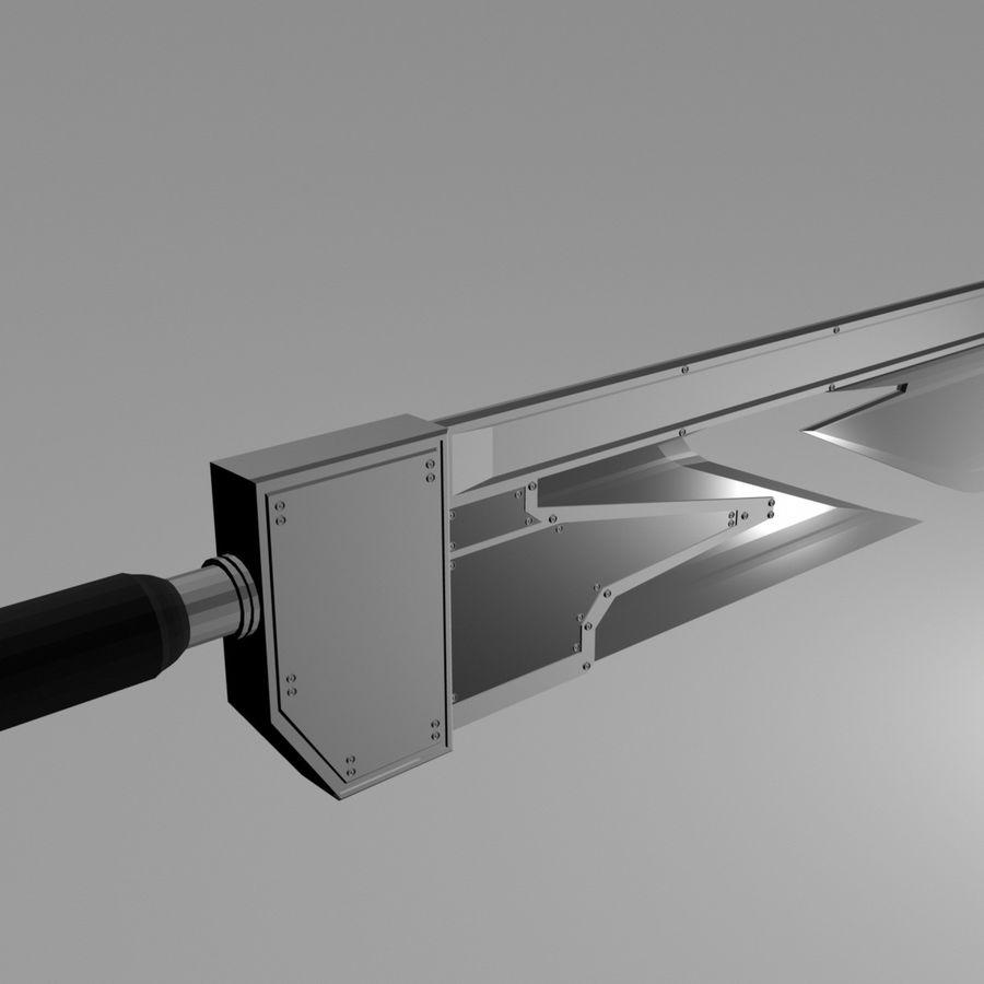 Espada de triple hoja de fantasía royalty-free modelo 3d - Preview no. 1