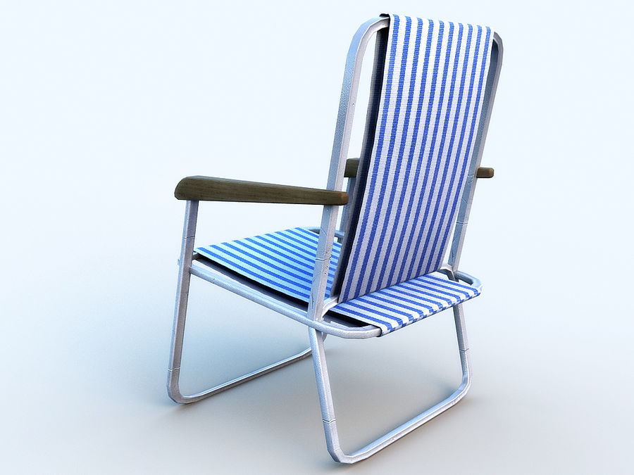 Beach chair # 1 royalty-free 3d model - Preview no. 3