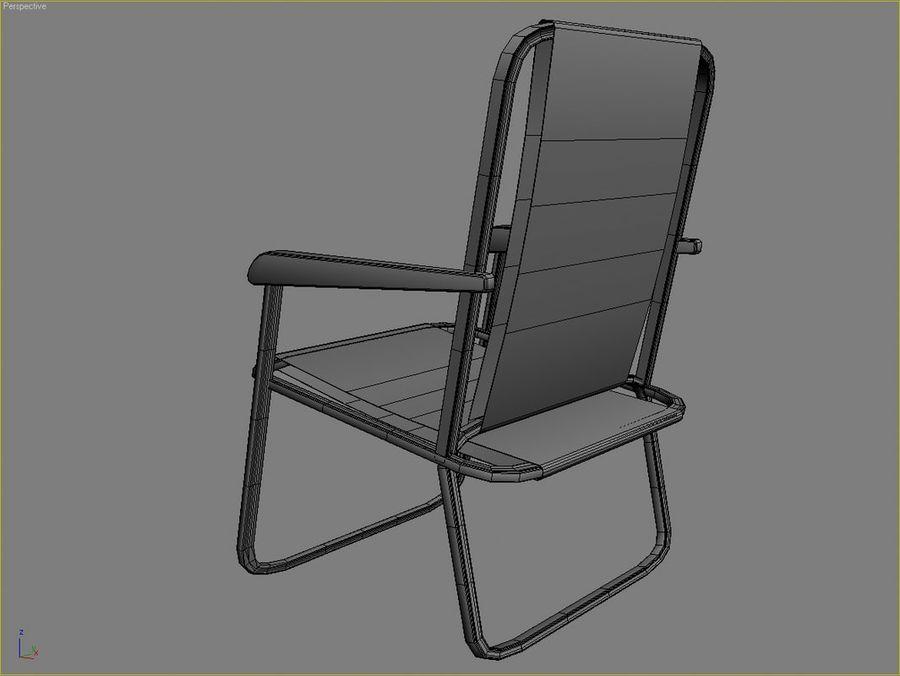 Beach chair # 1 royalty-free 3d model - Preview no. 4