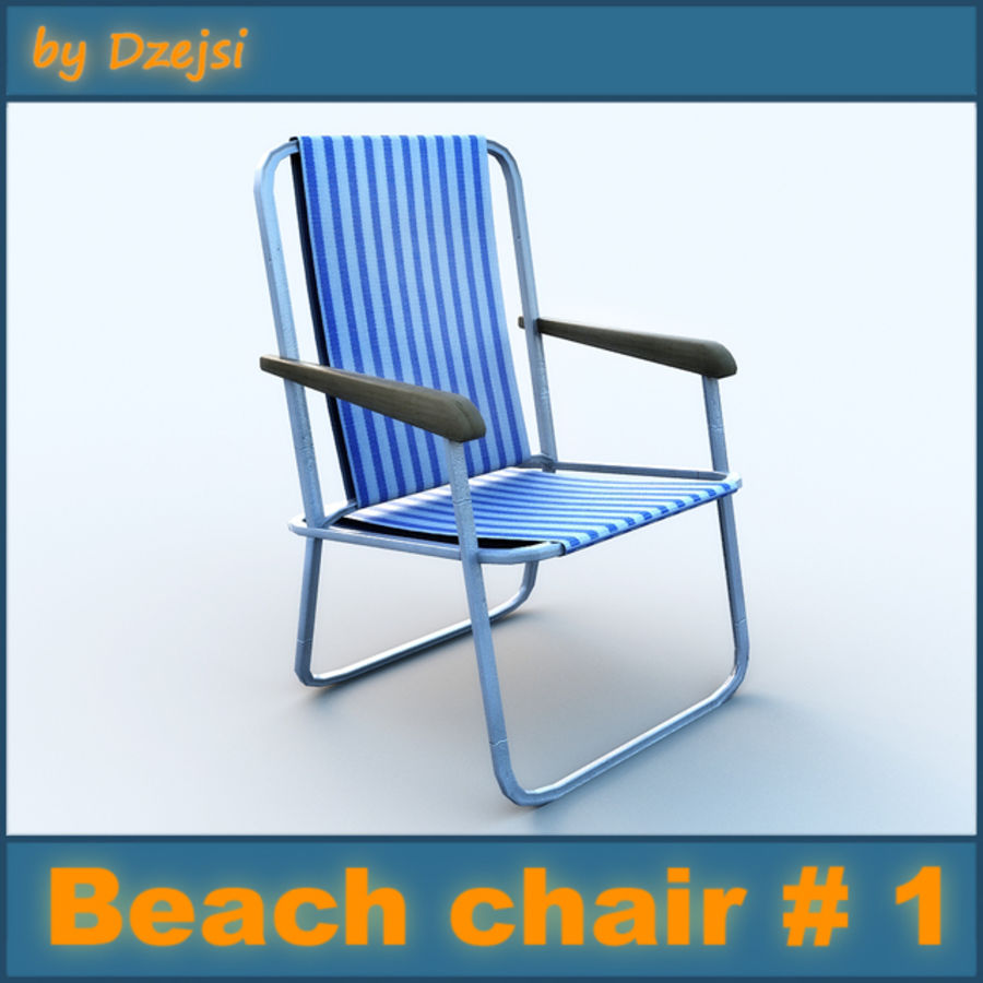Beach chair # 1 royalty-free 3d model - Preview no. 1