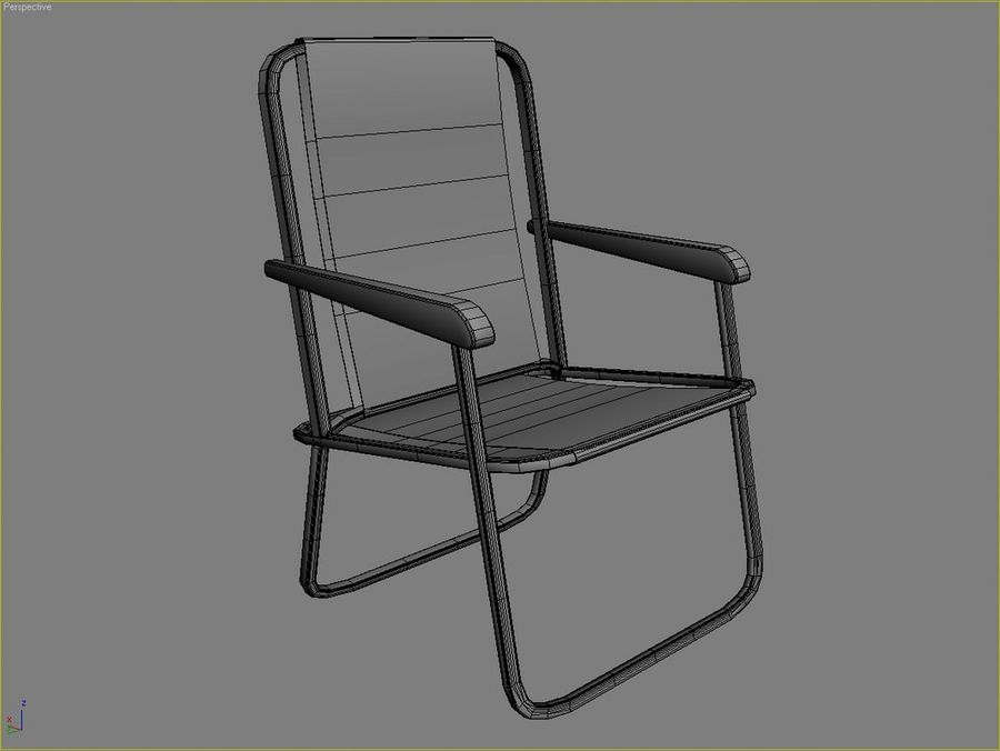 Beach chair # 1 royalty-free 3d model - Preview no. 5