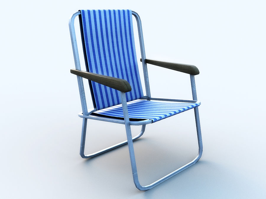 Beach chair # 1 royalty-free 3d model - Preview no. 2