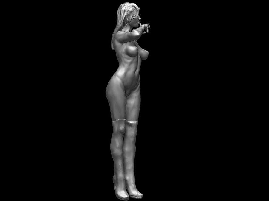 Femme royalty-free 3d model - Preview no. 2