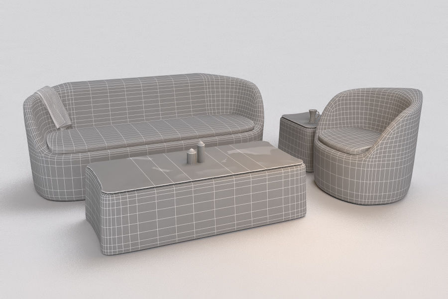 Lino verde divano da habitat nel salotto accogliente con west