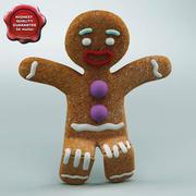 Gingerbread Man Rigged 3d model