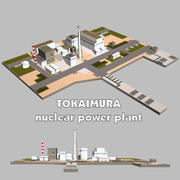 TOKAI MURA nuclear power plant 3d model