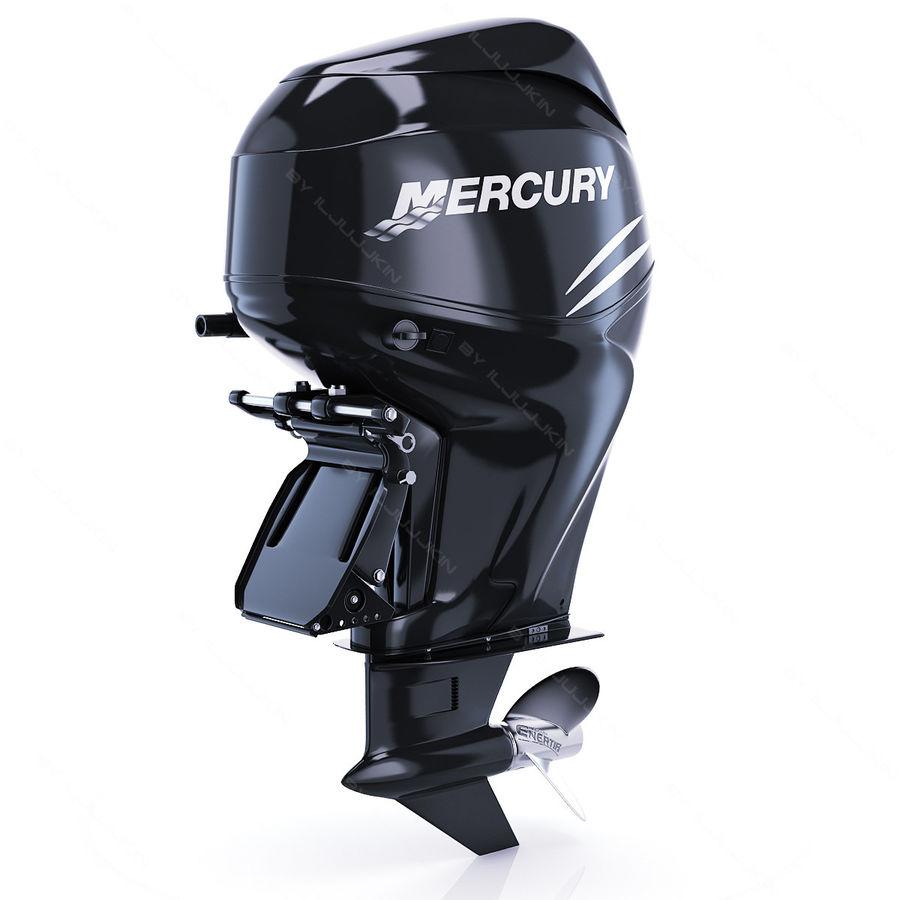 Mercury Verado 200 royalty-free 3d model - Preview no. 2