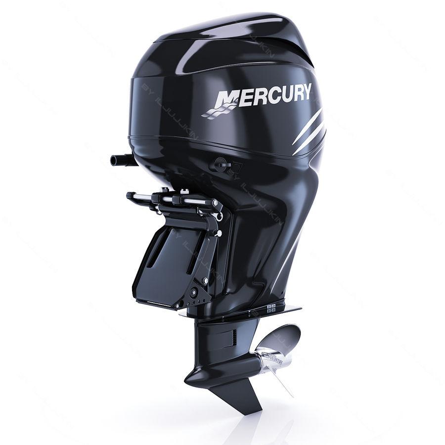 Mercury Verado 200 royalty-free 3d model - Preview no. 4