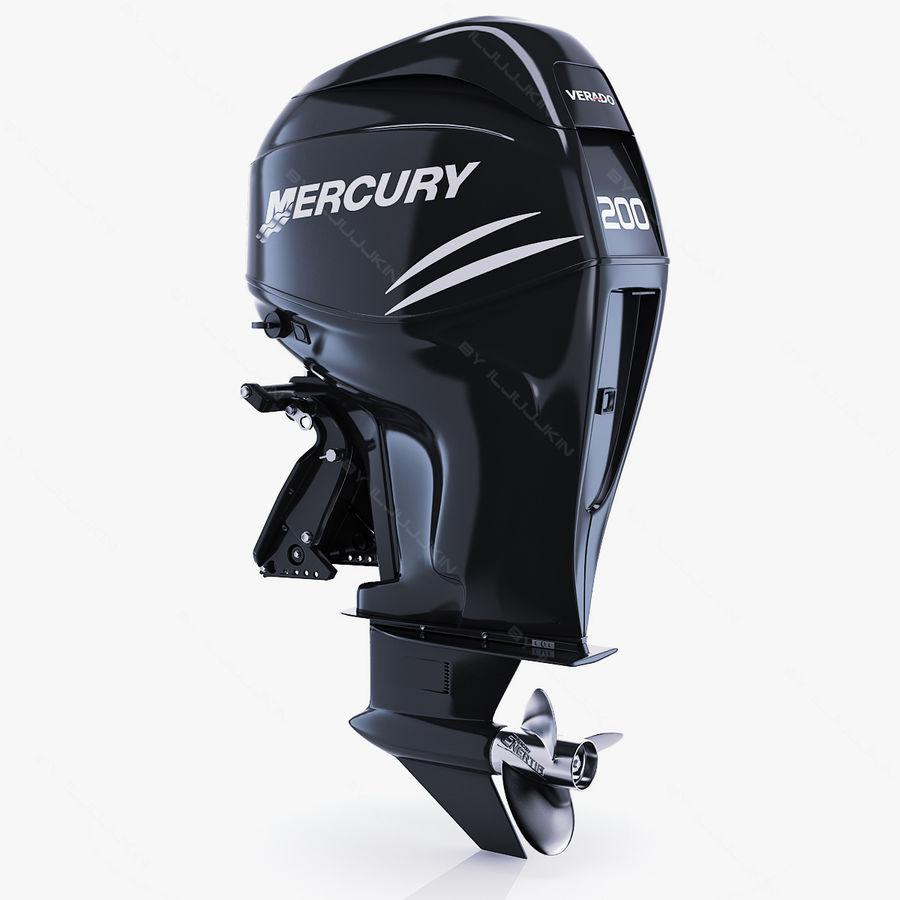 Mercury Verado 200 royalty-free 3d model - Preview no. 1