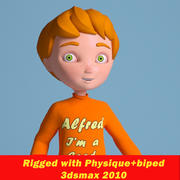cartoon jongen Alfred 3d model