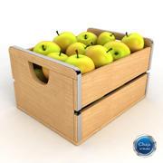 Яблочный ящик 3d model