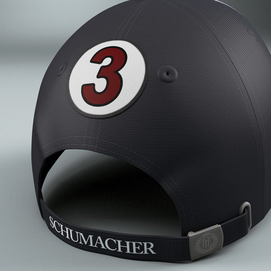 Michael Schumacher Cap royalty-free 3d model - Preview no. 9