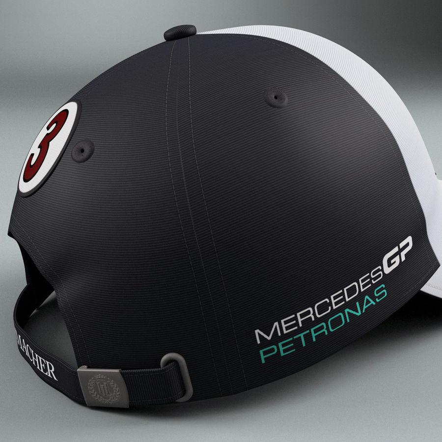 Michael Schumacher Cap royalty-free 3d model - Preview no. 8