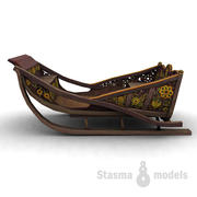 俄罗斯雪橇 3d model