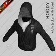 Cloth Hoodie - Jacket with Hood (Anarc) 3d model