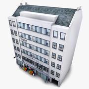 Supermercado Photorealistic do edifício de casa de Copenhaga 3d model